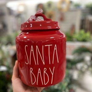 rae dunn santa baby canister